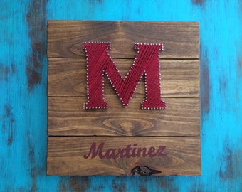 Last name String Art