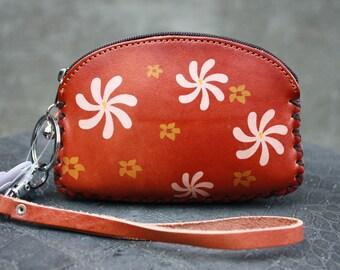 Vintage Brown Multi color Saddle Genuine Leather Wallet