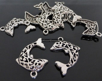 Dolphin Charms 9PCS