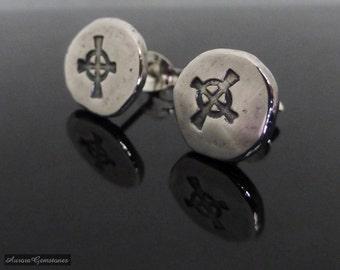 Celtic Cross Stud Earrings