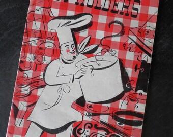Pot Holders Crochet Book....Instructions....Paper Ephemera