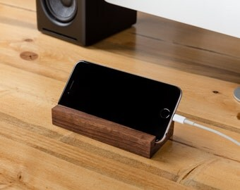 iPhone Stand -Wood Tech Gift, Gifts for him, Gift for her, phone stand, Desk Accessory, Minimalist Desk