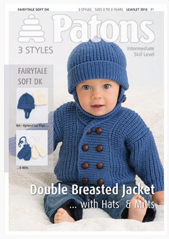 Patons Baby Knitting Pattern 3915 Intermediate 3 Styles