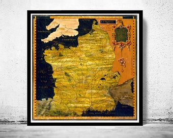 Old Map of France 1576