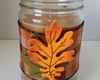 """Fall Themed """"Autumn Walk"""" scented Jar candle"""