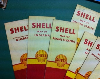 Shell road map from the 1940 8 in set