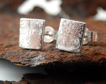 studs, silver stud earrings
