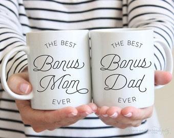 Best Bonus Mom Best Bonus Dad Mug - 11 OR 15 ounce mug, coffee mug, encouraging mug, stepmom mug, stepdad mug, step parent gift
