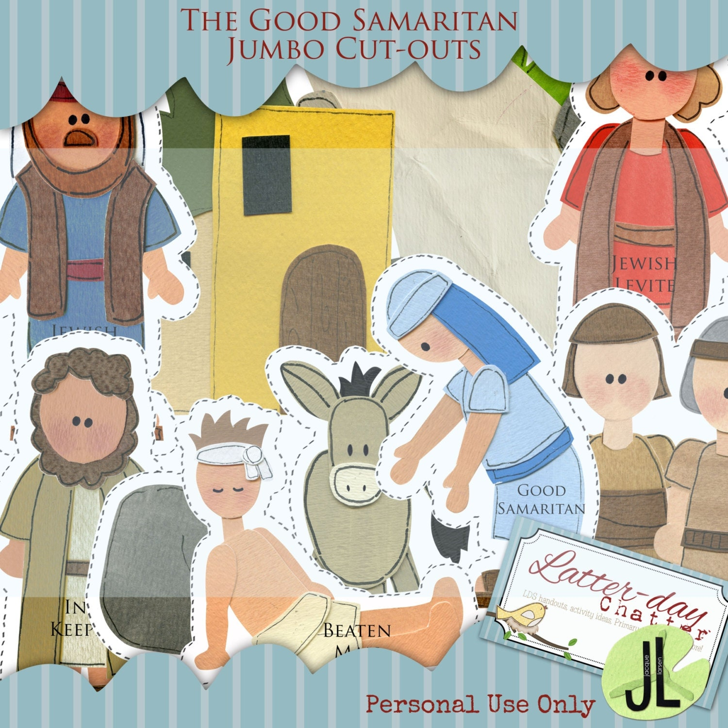 The good samaritan jumbo cut outs by latterdaychatter on etsy for Good arts and crafts
