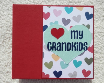 6x6 Grandparent Chipboard Scrapbook Album