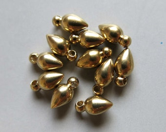 200pcs Solid Raw Brass Bullet 8.5mm x 4.5mm - F156