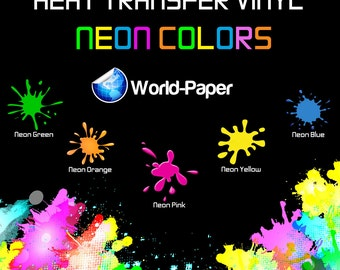 """Siser EasyWeed Fluorescent Heat Transfer Vinyl (PACK 5 of 15"""" X 1Yd) Choose From 6 COLORS **FREE Shipping**"""