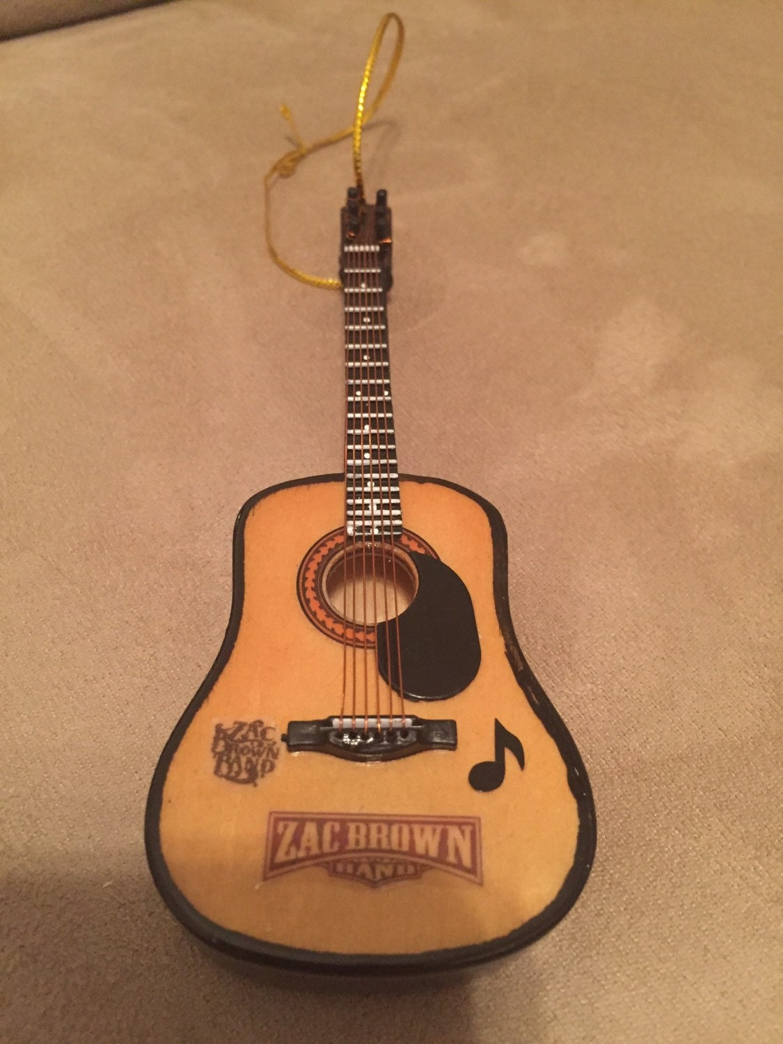 zac brown band custom acoustic guitar christmas by guitarornaments. Black Bedroom Furniture Sets. Home Design Ideas