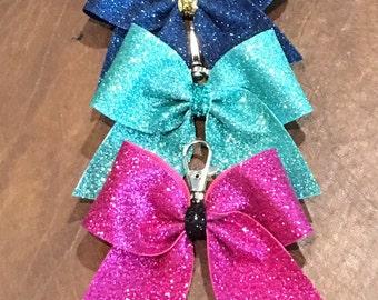 Cheer Bow Key Chain--Glitter Bow (one bow)