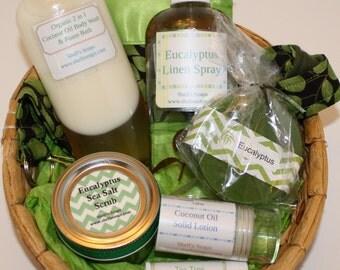 Eucalyptus Bath and Body Gift Basket