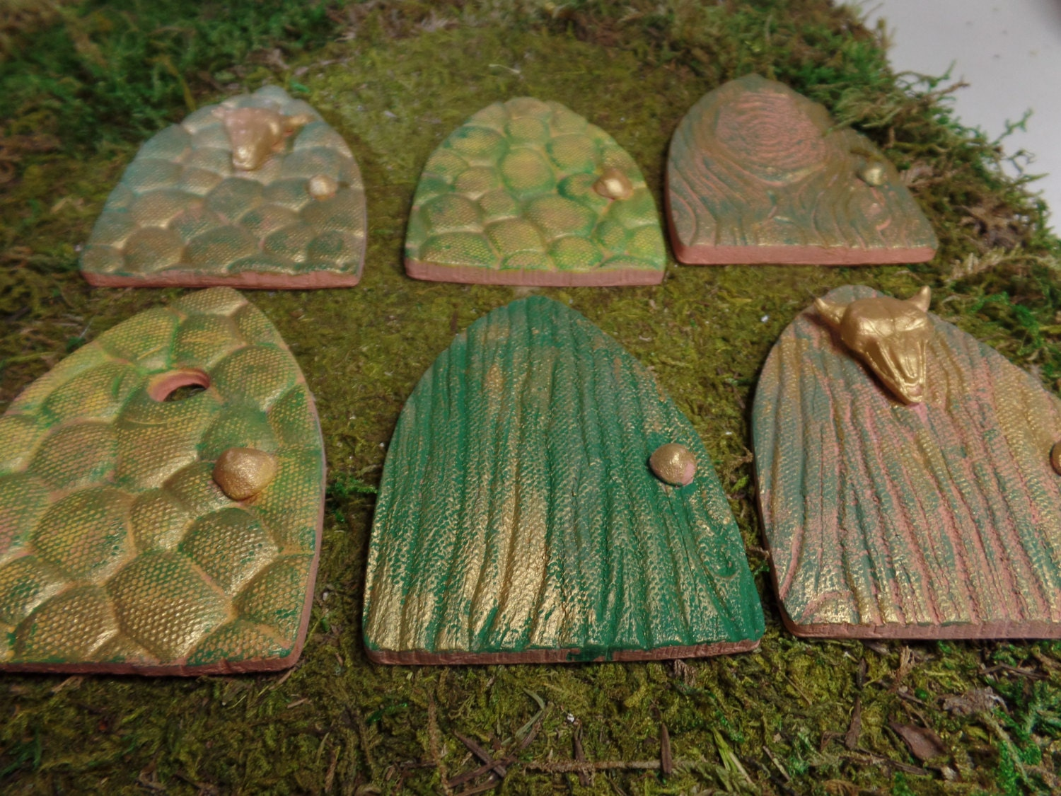 Fairy garden miniature doors medieval magic terra cotta for Fairy door kits canada