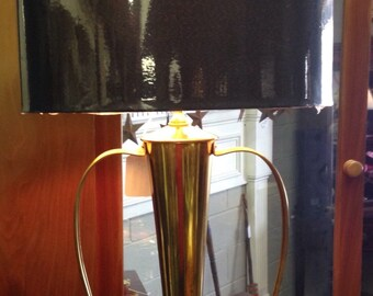 Mid Cenntury Brass ans Copper Table Lamp