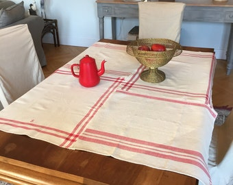 Tablecloth home made , linen and Cotton