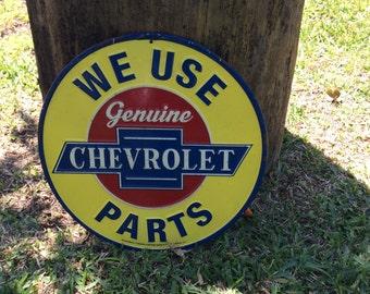 12' Chevrolet Round Tin Sign