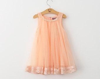 Spring Lace Chiffon Sleeveless Dress
