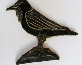 Ceramic Crow Tile