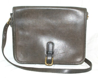 Coach Bag Vintage Gray Leather Crossbody Shoulderbag Vintage Coach Leatherware 8814 Made in New York City