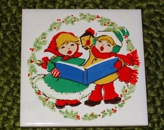 Set of 4 Christmas Trivets / 4 Different Designs / Seasonal Trivets / Holiday Trivets