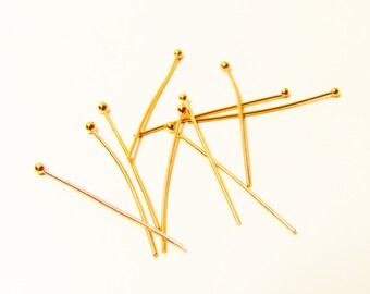 D-03299 - 10 Headpins rosegold color 3,5cm