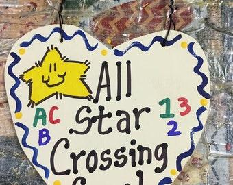 Teacher Gifts  All Star Crossing Guard Handmade