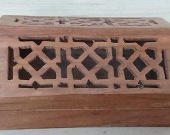 Vintage wooden box, pot pouri holder