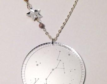 Mirrored Constellation Necklace (Scorpio)