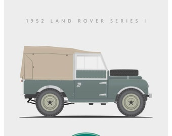 1952 Land Rover Series I - 8x10 inch Giclee Print