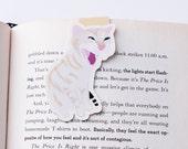 Screaming Orange Tabby Cat Magnetic Bookmark (Jumbo)