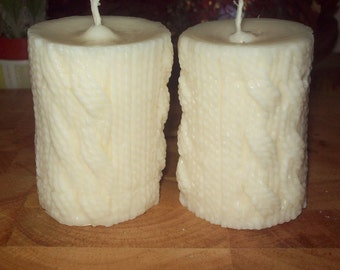 "Ginger and Nutmeg ""Knitted"" Soy Candle"