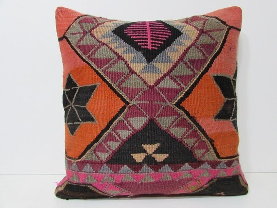 Modern Kilim Pillows : 24x24 kilim pillow 24x24 modern throw by DECOLICKILIMPILLOWS