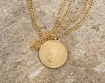 Personalized gold necklace, gold charm necklace, initial necklace, gold initial necklace, initial charm necklace