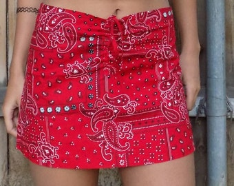 Red Bandana Skirt