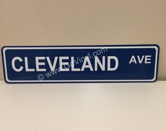 Cleveland Ave - Street / Road Sign