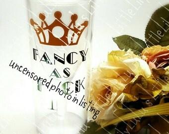 Fancy as F wine glass tumbler