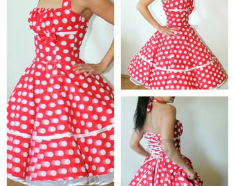 50s rockabillydress, made to measure , wedding dress, petticoat dress, bridesmaids dress,  flower girls dress, summer dress