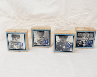 Photo Blocks, Personalized Photo Blocks, Wood Blocks, Wood Blocks for Kids, Mom Gift, Grandma Gift, Dad Gift,  Wood Sign 1 - 6 blocks