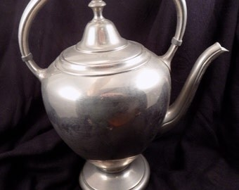 Vintage Tea Pot Coffee Pot Marked and Numbered (5151) Crescent Silver Mfg Co SPNS