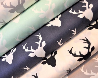 Buck Forest Fabric Bundle from Hello Bear - Art Gallery - Bonnie Christine. Deer Antlers. 100% premium cotton. Select Your Length