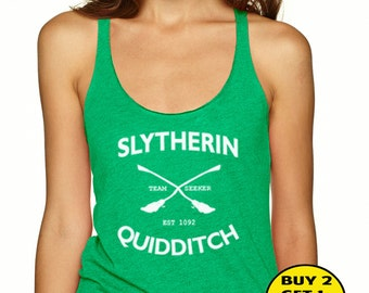 Slytherin Quidditch Shirt  Unisex Tank Top  Size S M L XL