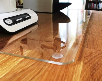 Square Worktop Saver in Clear Gloss Acrylic - 3 Sizes Available - 3mm thick