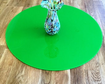 Round Worktop Saver in Bright Green Acrylic - 3 Sizes Available