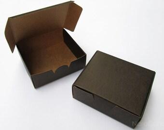Bulk Black Box, Two Tone Black Kraft Box, Jewelry Packaging, Small Gift Box - Set of 50
