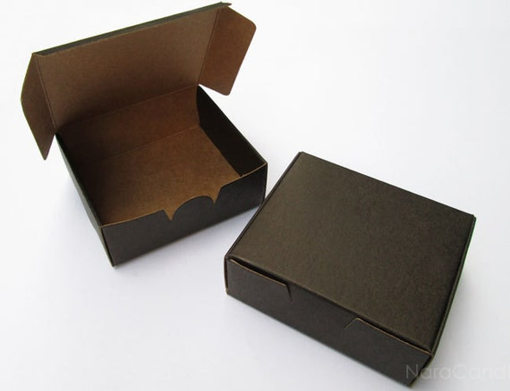 Bulk Black Box Two Tone Black Kraft Box Jewelry