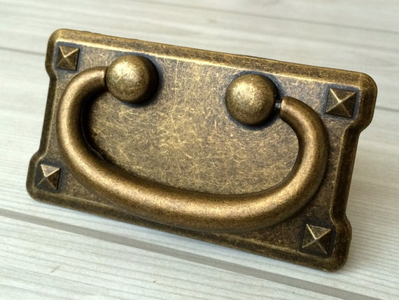 3 Vintage Style Dresser Pulls Drawer Pull Antique Bronze