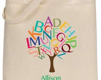 Personalized English Tree Tote Bag